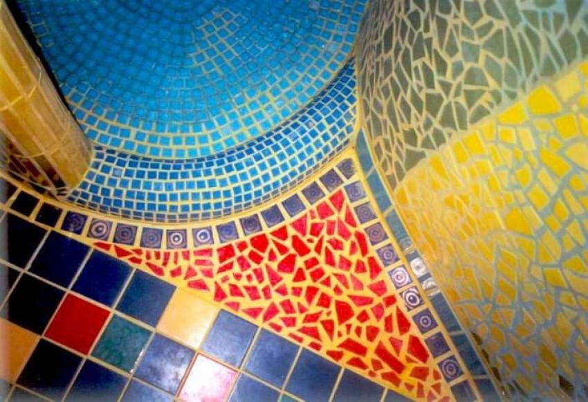 Dekorations Beispiele: Mosaik einer Dusche