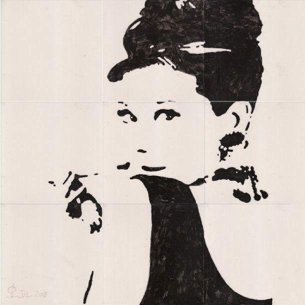 Fliesen-Bild: Audrey Hepburn