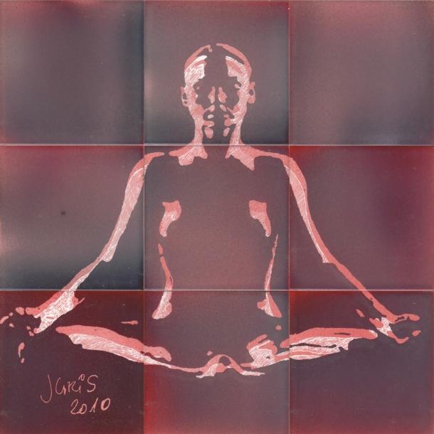 Fliesen-Bild: Yoga