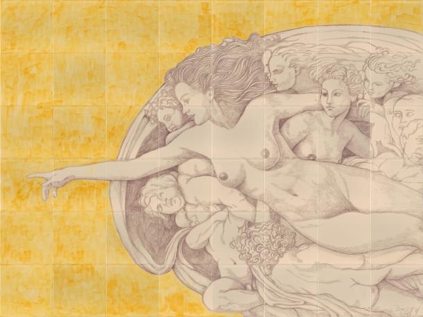 Fliesen-Bild: Michelangelo